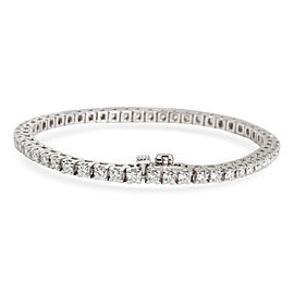Four Prong Diamond Tennis Bracelet in 18K White Gold G-H VS 3.64 CTW