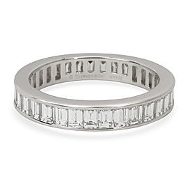 Tiffany & Co. Channel Baguette Diamond Eternity Band in Platinum 2.64 CTW