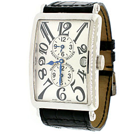 Franck Muller Long Island Master Banker White Gold 3-time Zone Automatic Watch