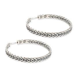 John Hardy Chain Hoop Earring in Sterling Silver