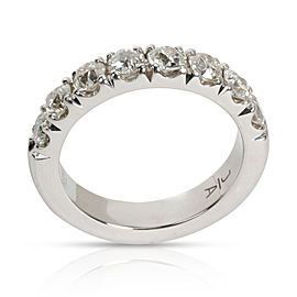 8 Stone Diamond Wedding Band in Platinum 1 CTW