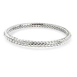 John Hardy Oval Dot Slip On Bangle in Sterling Silver