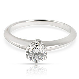 Tiffany & Co. Classic Solitaire Diamond Engagement Ring in Platinum D IF 0.58CTW
