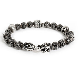 David Yurman Black Diamond Spiritual Bead Bracelet in Sterling Silver 13.86 CTW