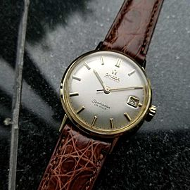Omega Seamaster Deville Solid 14k Gold Swiss 1960s Automatic Mens Watch LV318