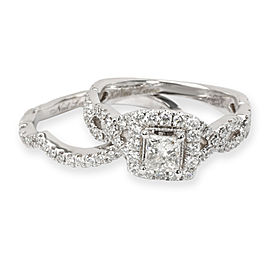 Neil Lane Diamond Engagement Wedding Ring Set in 14K White Gold (1.17 CTW)