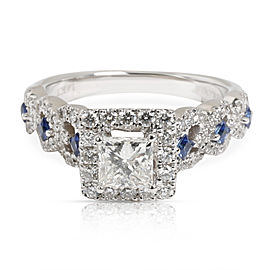 Vera Wang Love Collection Diamond & Sapphire Engagement Ring in 14K Gold 1 CTW