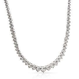Graduated Diamond Riviera Necklace in 14K White Gold (5 CTW)