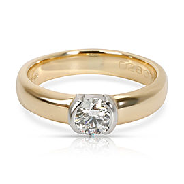 Tiffany & Co. Semi Bezel Diamond Engagement Ring in 18K 2 Tone Gold 0.35 CTW