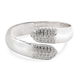 Chaumet Diamond Plume Bangle in 18K White Gold 2.00 CTW