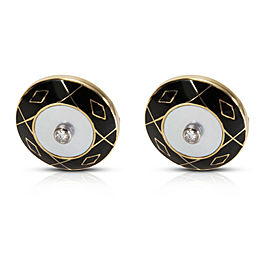 Deakin & Francis Diamond Cufflinks Set in 18k Yellow Gold (0.25 CTW)