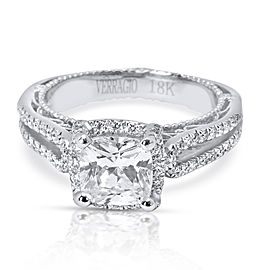 Verragio Halo Diamond Engagement Ring Setting in 18K White Gold
