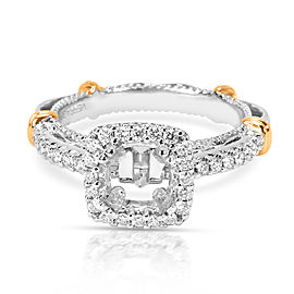 Verragio Diamond Engagement Ring Setting in 14K White Gold (1/3 CTW)