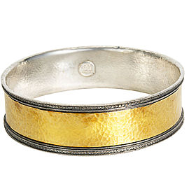 Gurhan Bangle Bracelet in 24K Yellow Gold and Sterling Silver MSRP 2,875