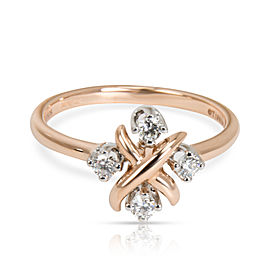 Tiffany & Co. Schlumberger Lynn Diamond Ring in 18K Rose Gold & Platinum