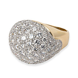 Domen Pave Diamond Cocktail Ring in 18K Yellow Gold 8.00 CTW