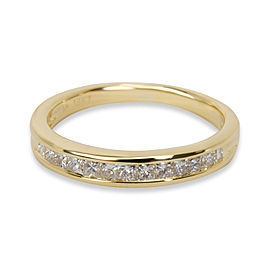 Tiffany & Co. Diamond Channel Set Wedding Band in 18K Yellow Gold 0.17 CTW