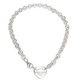 Tiffany & Co. Return to Tiffany Heart Tag Necklace in Sterling Silver