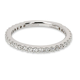 Gabriel & Co. Diamond Wedding Band in 14K White Gold (0.42 CTW)