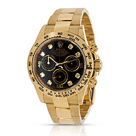Rolex Daytona 116508 Men's Watch in 18kt Yellow Gold