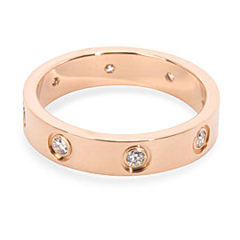 Cartier Love Diamond Band in 18K Rose Gold (0.19 CTW)