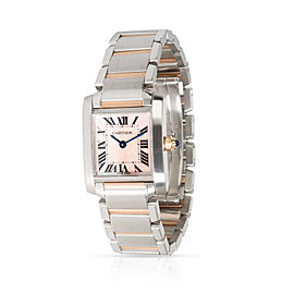Cartier Tank Francaise W51027Q4 Women's Watch in 18kt Stainless Steel/Rose Gold