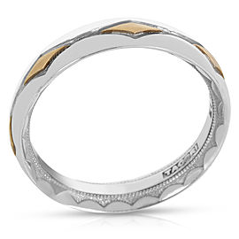 Tacori 18K Two Tone Gold Men's Crescent Band