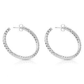 BRAND NEW Diamond Hoop Earrings in 14K White Gold (5.44 CTW)