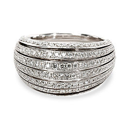 Bucherer Domed Diamond Band in 18KT White Gold 1.21 CTW