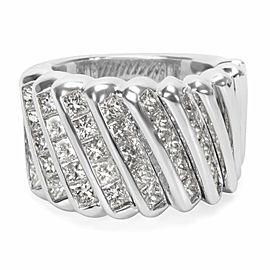 Luca Carati Diamond Fashion Ring in 18K White Gold (4.86 CTW)
