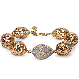 Pave Diamond Fashion Bracelet in 18k Pink Gold (7.30 CTW)