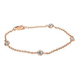 Diamonds by the Yard Station Bracelet in 14K Pink Gold (1.00 CTW)