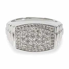 Diamond Men's Ring in 10K White Gold (1.00 CTW)