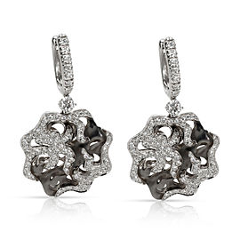 Zydo Diamond Drop Earrings in 18KT White Gold 1.87 ctw