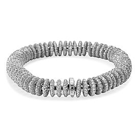 18K White Gold Mattia Cielo Diamond Pave Bracelet 23.80 ctw