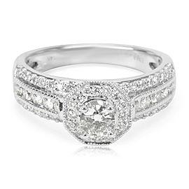 Diamond Engagement Ring in 14K White Gold (0.95 CTW)