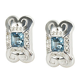 Gurhan '2014 Spring' Earrings with Blue Topaz in Sterling Silver MSRP 1625