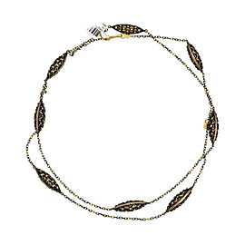 Gurhan Capitone Necklace with Diamonds in 24K and 4K Yellow Gold