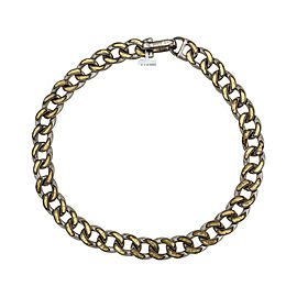 Gurhan Ottoman Link Necklace in Sterling Silver & 24K Yellow Gold MSRP 7,975