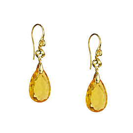 BRAND NEW Di Modolo Honey Quartz Drop Earrings in Plated 18K Yellow Gold