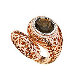 BRAND NEW Di Modolo Smoky Quartz Ring in Plated 18K Rose Gold