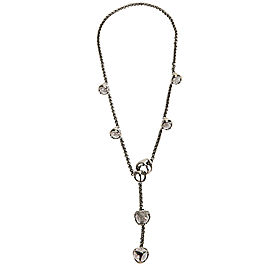 Di Modolo Rock Crystal Lariat Necklace in Black Rhodium Plated Silver