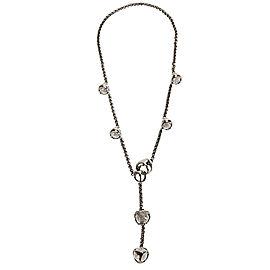 Di Modolo Rock Crystal Lariat Necklace in Black Rhodium Plated Silver
