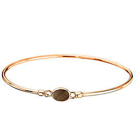 Di Modolo Smokey Quartz Bangle Bracelet in Plated 18K Rose Gold MSRP 475