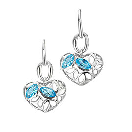 BRAND NEW Di Modolo Blue Quartz Drop Earrings in Plated Rhodium MSRP 295
