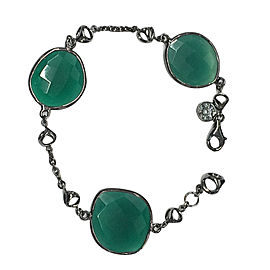 Di Modolo Lolita Green Onyx Black Rhodium Sterling Silver Bracelet MSRP 250