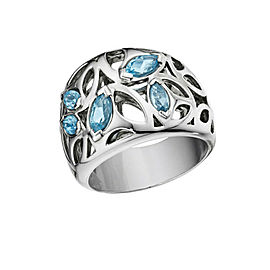 BRAND NEW Di Modolo Blue Quartz Ring in Rhodium Sterling Silver MSRP 475
