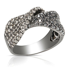 Black and Brown Diamond Fashion Ring with Rhodium in 14K Black Gold (1.90 CTW)