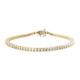 Channel Diamond Tennis Bracelet in 10K Yellow Gold (3.00 CTW)