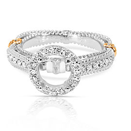 Verragio Venetian Collection Diamond Engagement Ring Setting in 18K Gold 0.37 CT